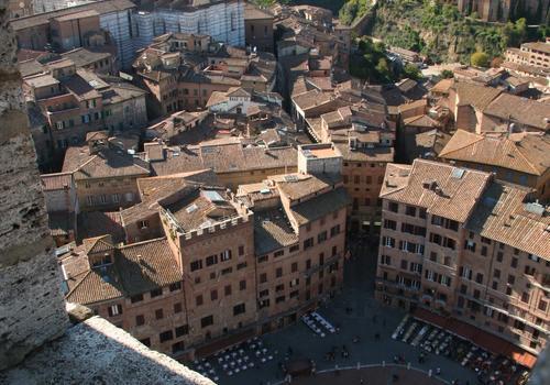 Vues sur Sienne depuis la Torre del Mangia