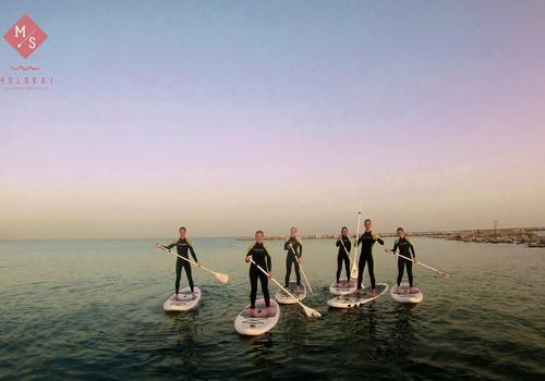 We offer different activities in the afternoon. Like Stand Up Paddling...